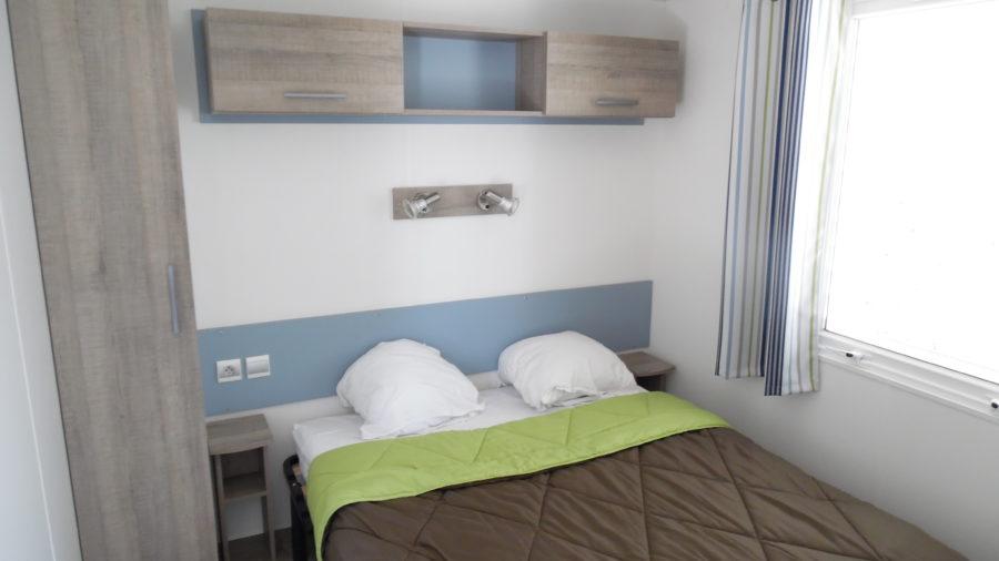La chambre lit double de nos Mobil Home !